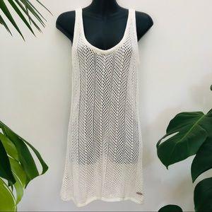 Billabong Crochet Beach Cover Up Dress Cotton